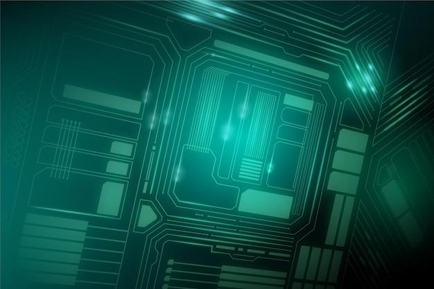 Tło kreatywnych mikroczipa komputerowego