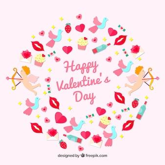 Tło kreatywnych valentine