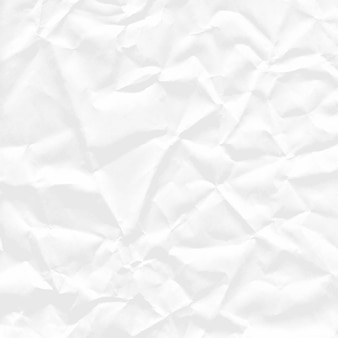 Tło kwadratowego arkusza białego zmiętego papieru