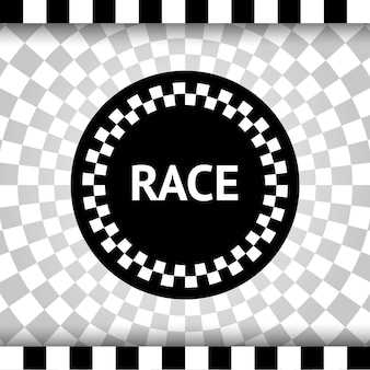 Tło kwadratu wyścigu, baner w kratkę