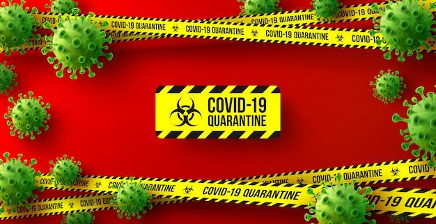 Tło kwarantanny koronawirusa