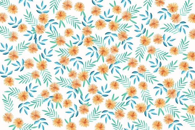 Tło kwiatowy ditsy