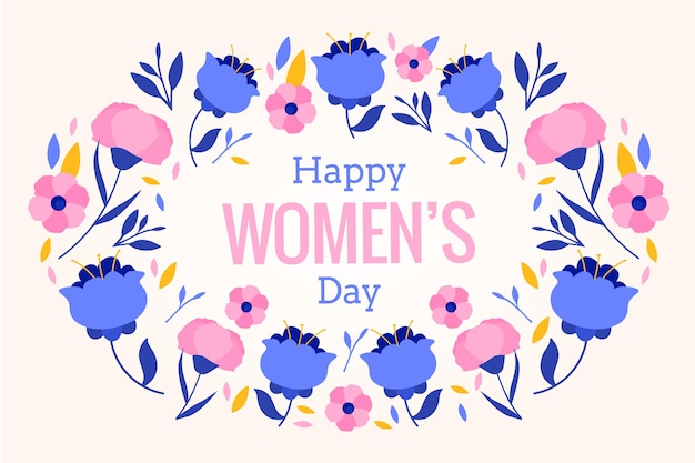 Tło kwiatowy dzień kobiet