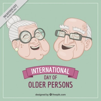 Tło ładne dziadkowie laughing
