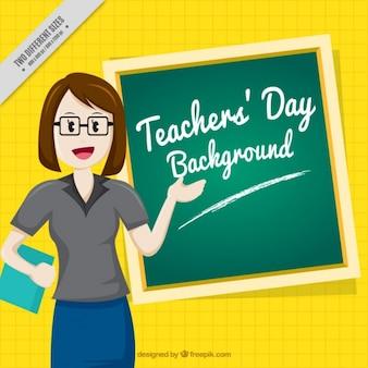 Tło ładnym nauczyciela