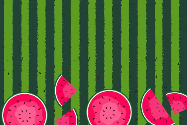 Tło lato z arbuzami