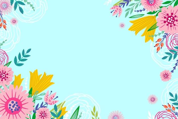 Tło lato z kwiatami