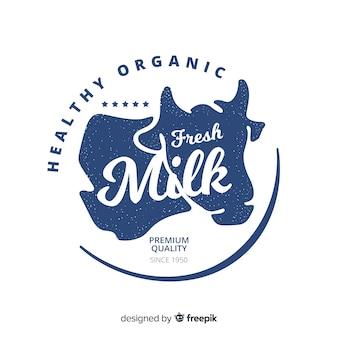 Tło logo ekologiczne mleko