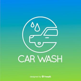Tło logo gradientu mycia samochodu