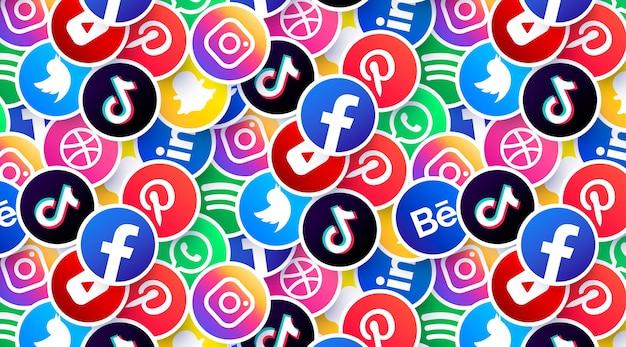 Tło logo mediów społecznościowych