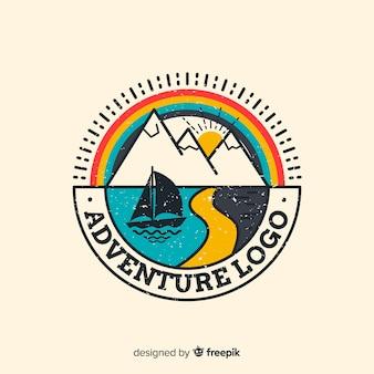 Tło logo przygody vintage