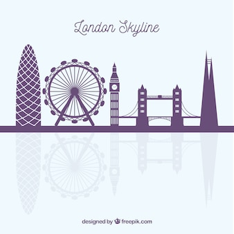 Tło london skyline