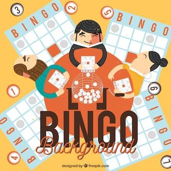 Tło ludzi grających w bingo