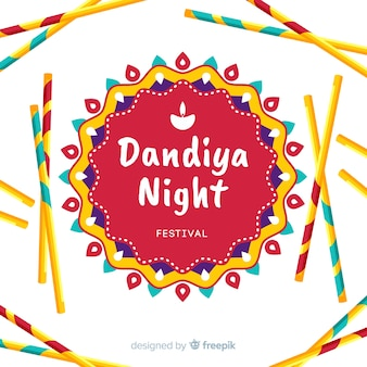 Tło mandala dandiya