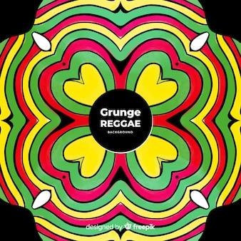 Tło mandali reggae