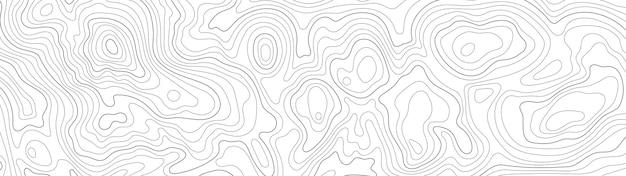 Tło mapy konturowej linii topograficznej