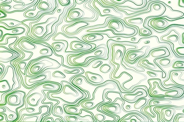 Tło mapy topograficznej w kolorze zielonym i białym