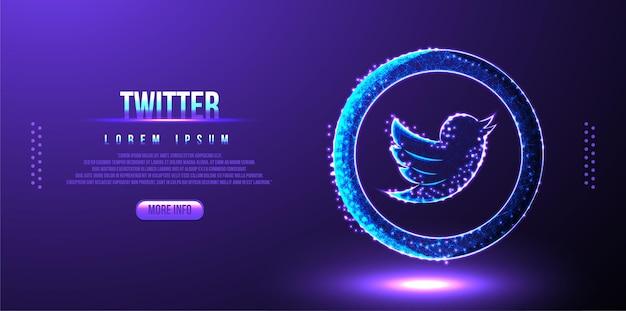 Tło marketingowe w mediach społecznościowych na twitterze