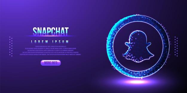 Tło marketingowe w mediach społecznościowych snapchata