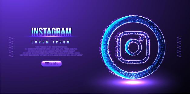 Tło marketingu w mediach społecznościowych na instagramie