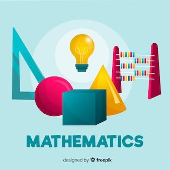 Tło matematyczne koncepcja kreskówka
