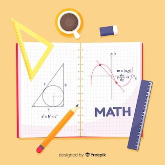 Tło matematyczne kreskówka