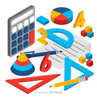 Tło materiałowe matematyki izometrycznej