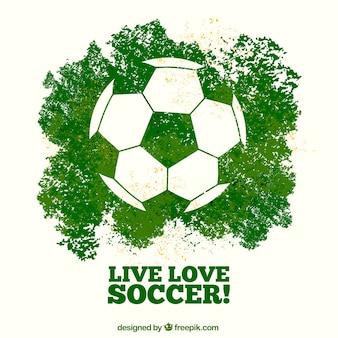 Tło meczu piłki nożnej z piłką