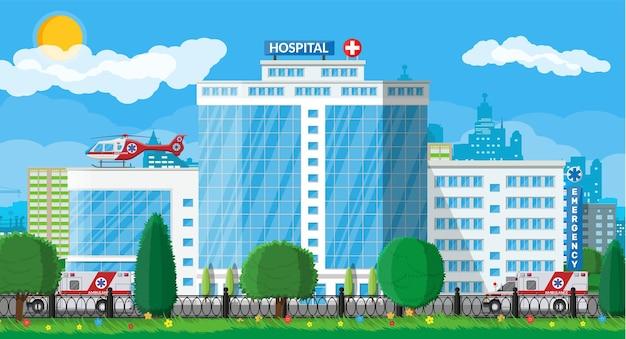 Tło medyczne budynku szpitala