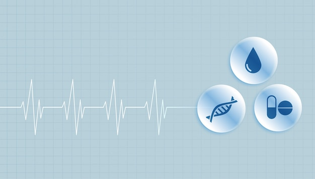Tło medyczne i opieki zdrowotnej z miejsca na tekst