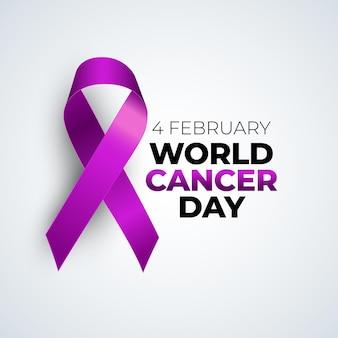Tło medyczne światowy dzień raka lutego