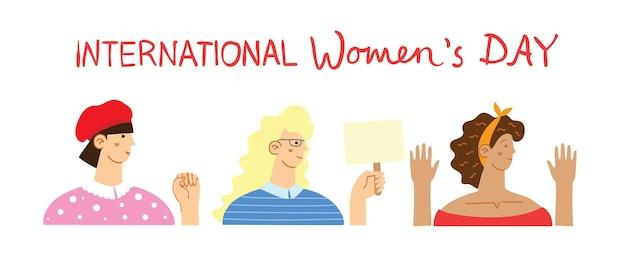 Tło międzynarodowego dnia kobiet