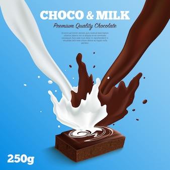 Tło mlecznej czekolady