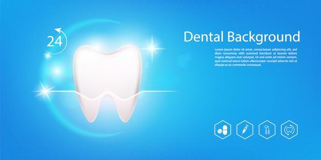 Tło modelu dentystycznego