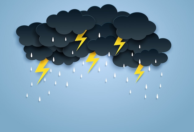 Tło monsunowe, pora deszczowa