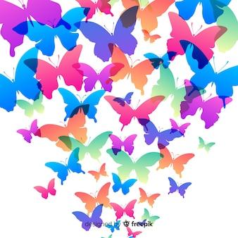 Tło motyla rój