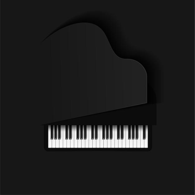 Tło muzyczne z klawiszami fortepianu