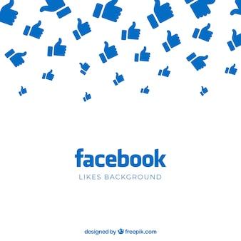 Tło na facebooku z polubieniami