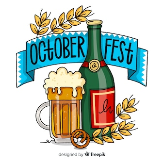 Tło napis oktoberfest