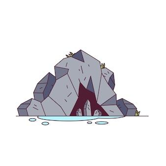 Tło natura góry jaskini