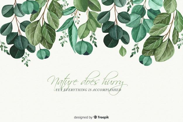 Tło natura z cytatem