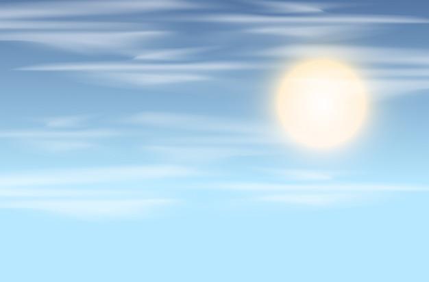 Tło nieba i słońca