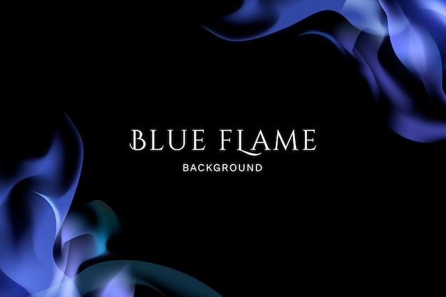 Tło niebieski płomień