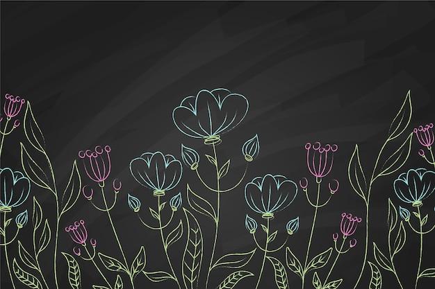 Tło niebieskie i fioletowe kwiaty