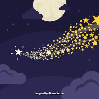 Tło niebo z gwiazdami