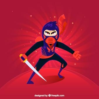 Tło ninja