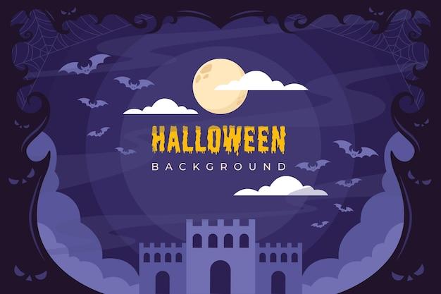 Tło nocy halloween