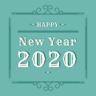 Tło nowego roku 2020