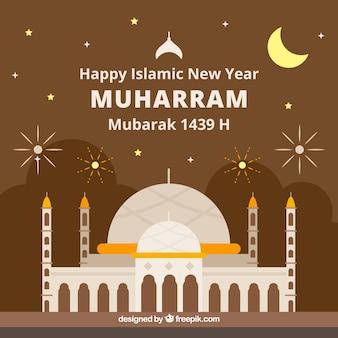 Tło nowego roku islamu
