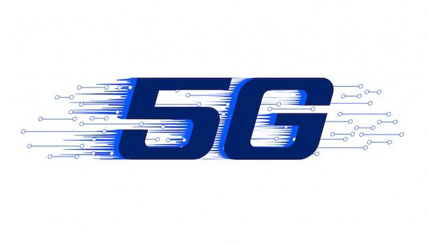 Tło nowej technologii bezprzewodowej 5g pierwszej generacji